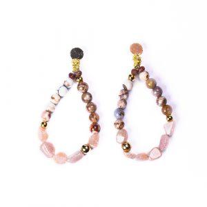 Boucles d'oreilles nixie beige rosé