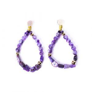Boucles d'oreilles nixie violet