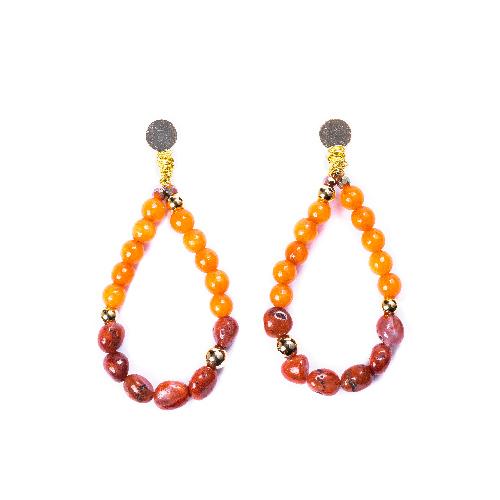 Boucles d'oreilles nixie orange