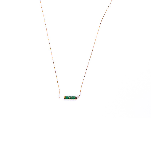 Collier orphée vert