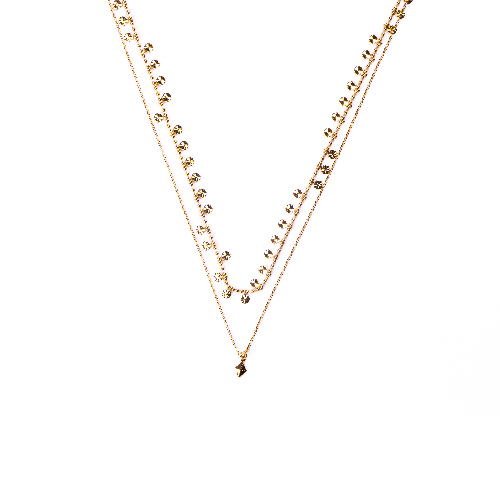 Collier double gipsy doré