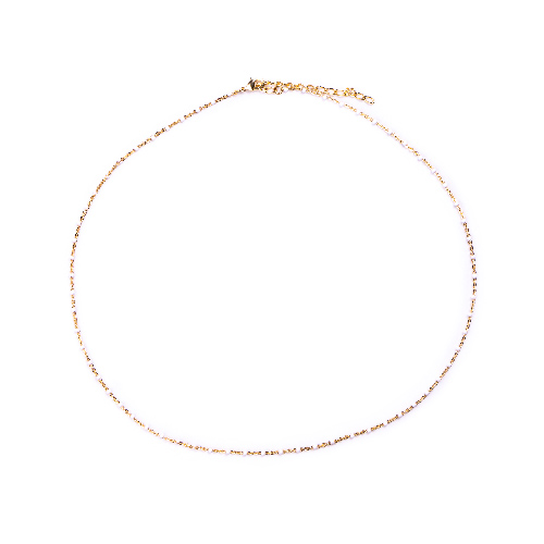 Collier olwen blanc or