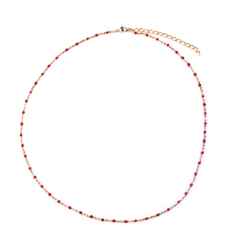 Collier olwen rouge or
