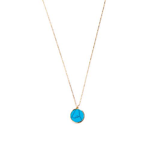 Collier jeton turquoise