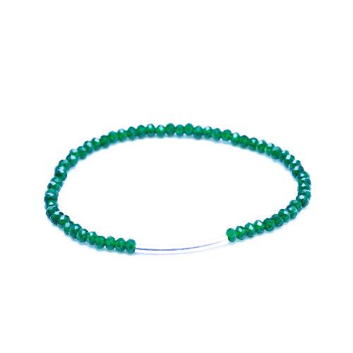 Bracelet arc vert acier