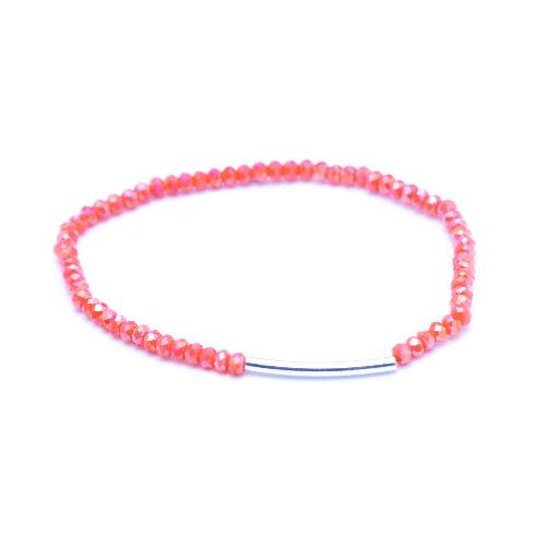Bracelet arc rose argent