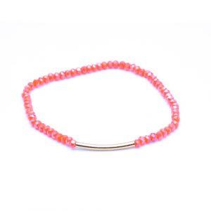 Bracelet arc corail or