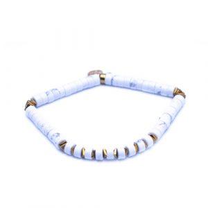 Bracelet heishi blanc