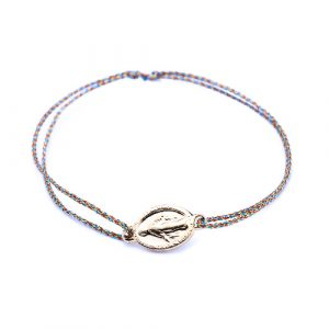Bracelet cordon madone multi lurex