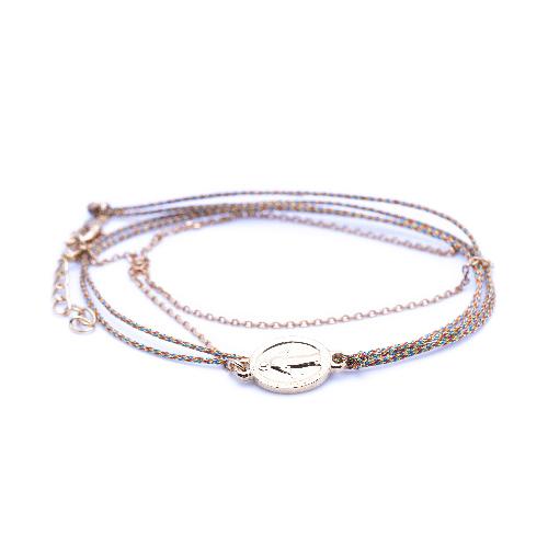 Bracelet madone multi lurex doré