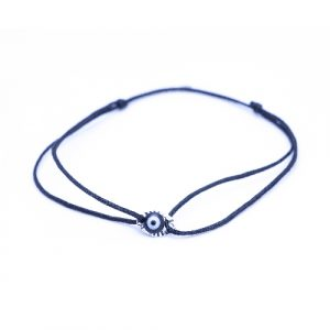 Bracelet cordon eyes noir