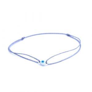 Bracelet cordon eyes bleu