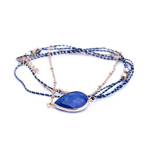 Bracelet multi tours tokyo lapis lazuli