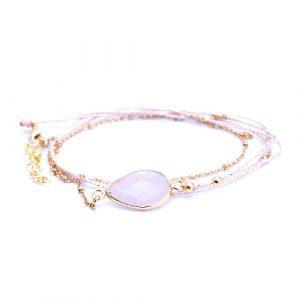 Bracelet multi tours tokyo quartz rose