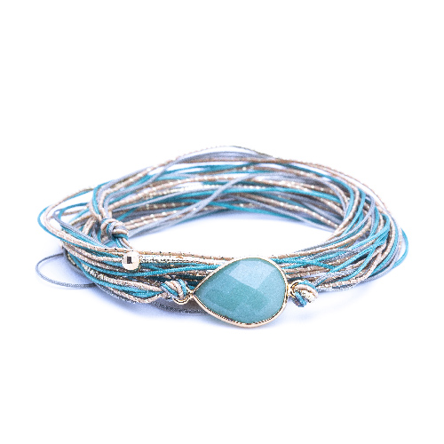 Bracelet multi tours avalon amazonite