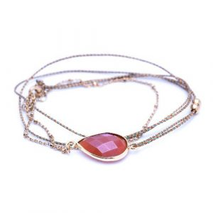 Bracelet multi tours tokyo cornaline