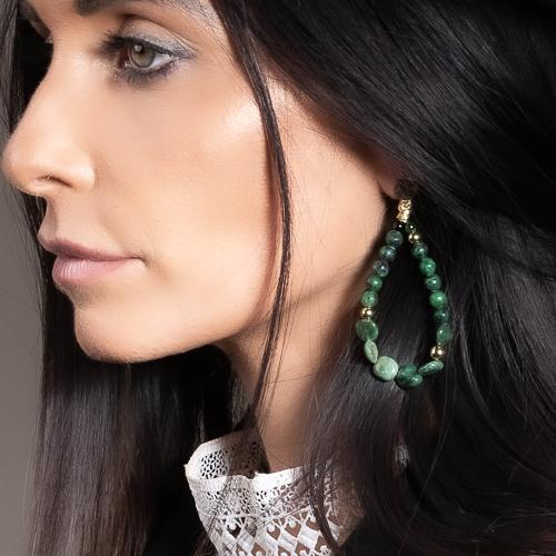 Boucles d'oreilles nixie vert