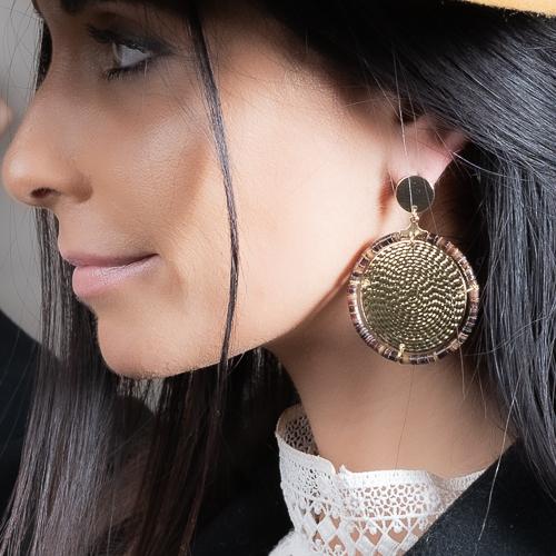 Boucles d'oreilles mystic doré