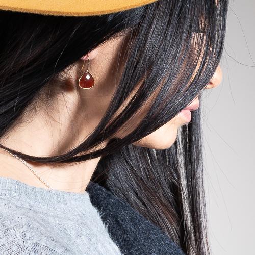 Boucles d'oreilles goutte cornaline