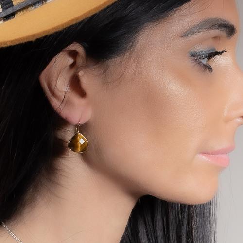 Boucles d'oreilles amazonite