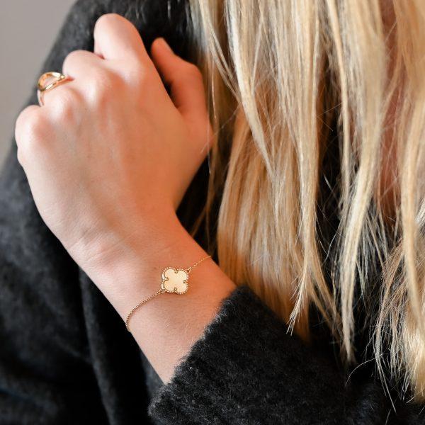 Bracelet trèfle nacre