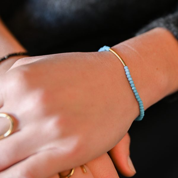 Bracelet arc turquoise ab or