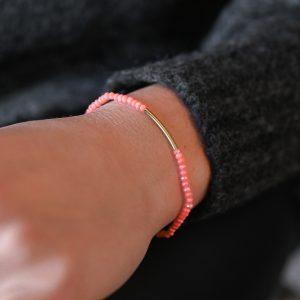 Bracelet arc corail