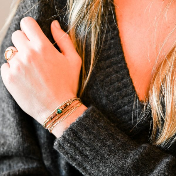 Bracelet multi tours orna vert