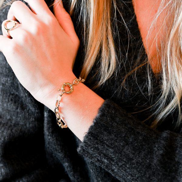 Bracelet nymphe doré