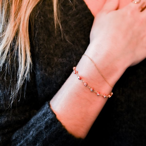 Bracelet suede rouge