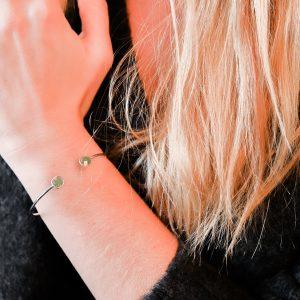 Bracelet argent vert d'eau