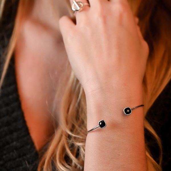 Bracelet argent bleu nuit