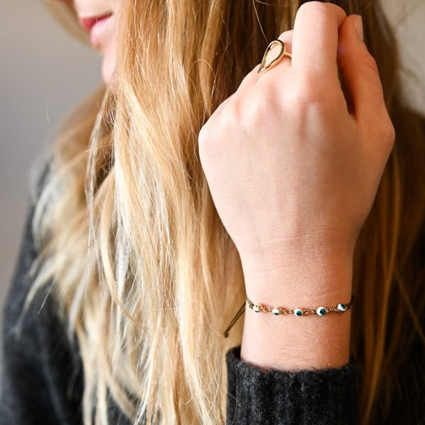 Bracelet cordon suede turquoise