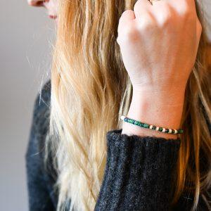 Bracelet heishi vert