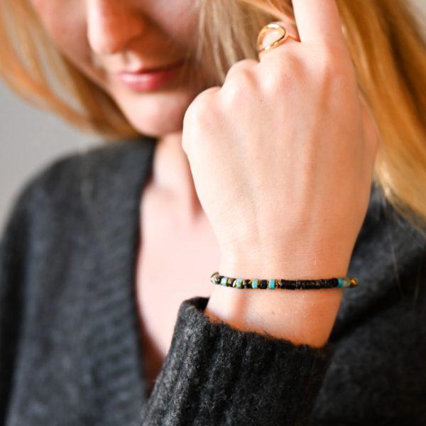 Bracelet heishi turquioize