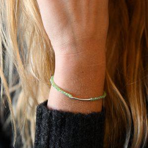 Bracelet arc vert d'eau
