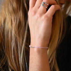 Bracelet arc rose