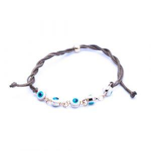 Bracelet cordon suede blanc