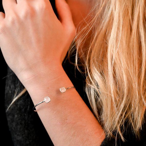 Bracelet argent et rose