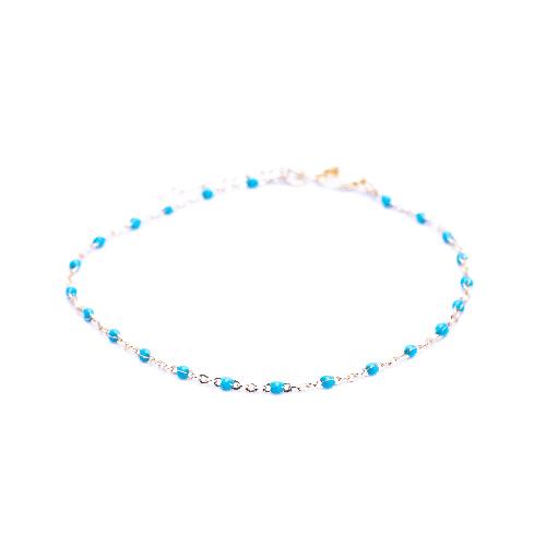 Bracelet olwen bleu canard or