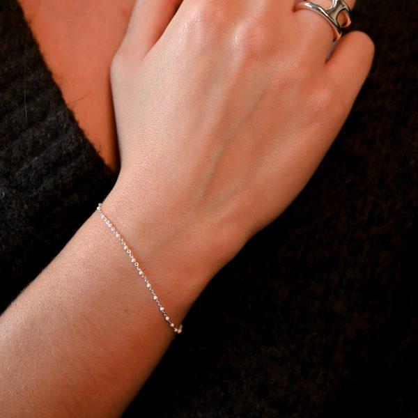 Bracelet olwen blanc argent