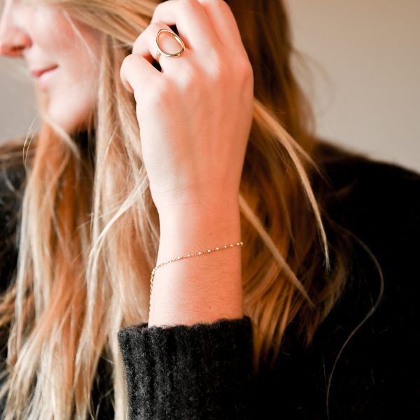 Bracelet olwen blanc or