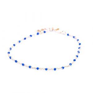 Bracelet olwen bleu marine or