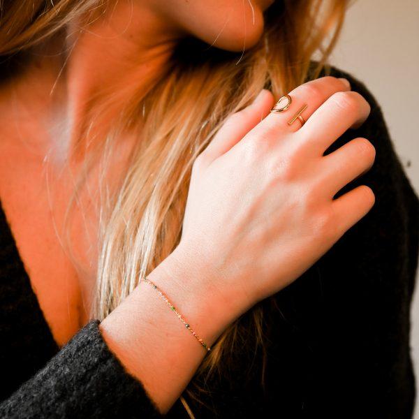 Bracelet olwen multicolore or
