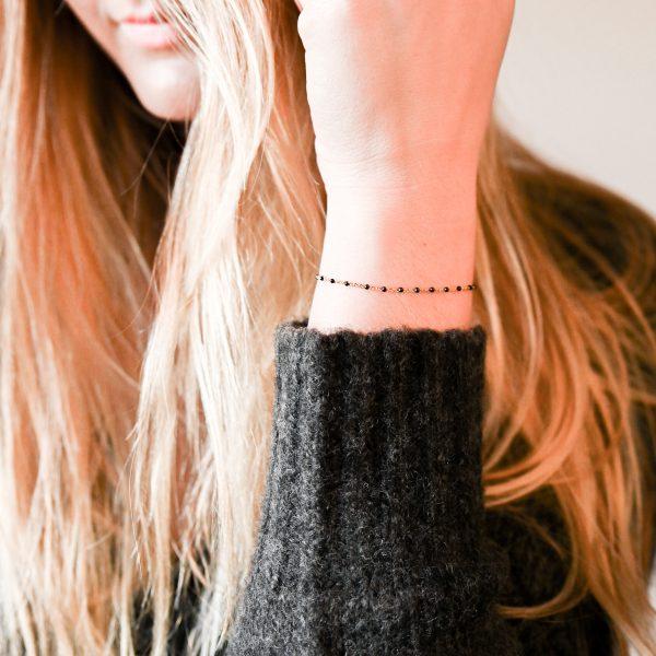 Bracelet olwen noir or