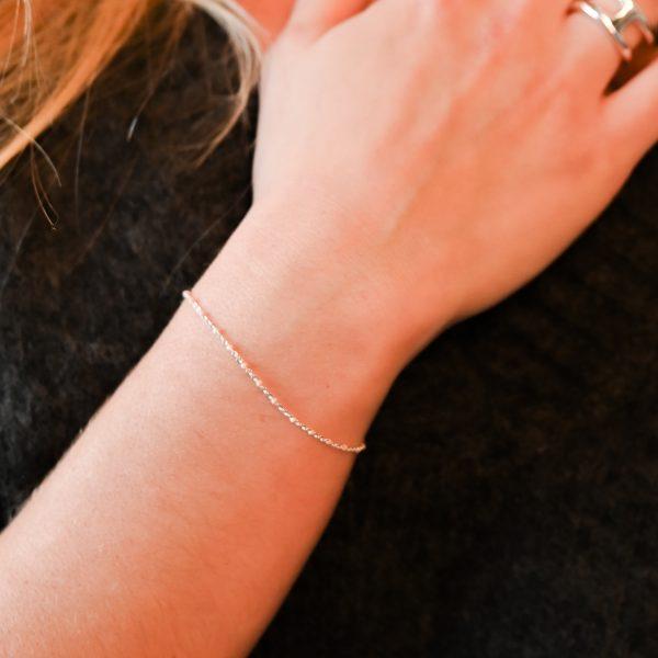Bracelet olwen nude argent