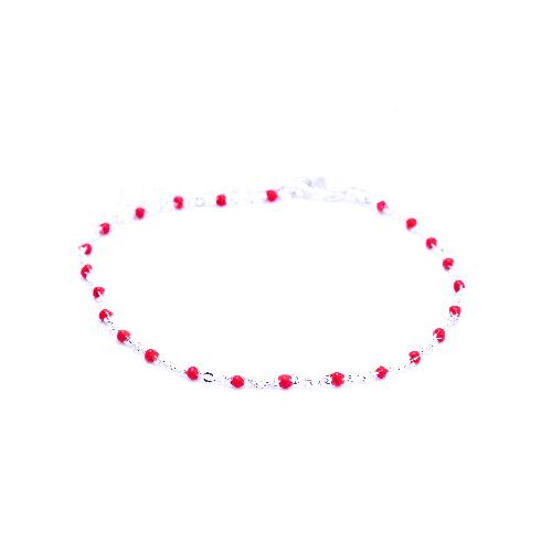 Bracelet olwen rouge argent
