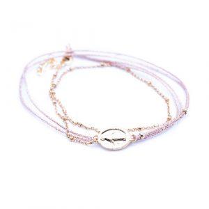 Bracelet madone rose doré