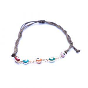 Bracelet cordon suede multicolore