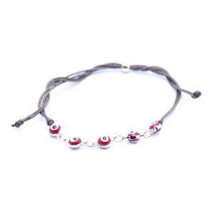 Bracelet cordon suede rouge